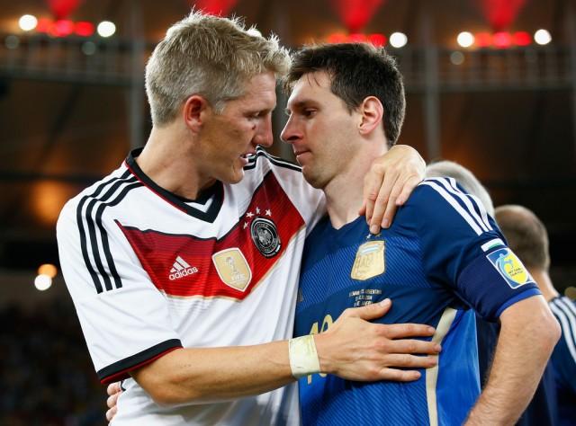 Bastian Schweinsteiger y Messi