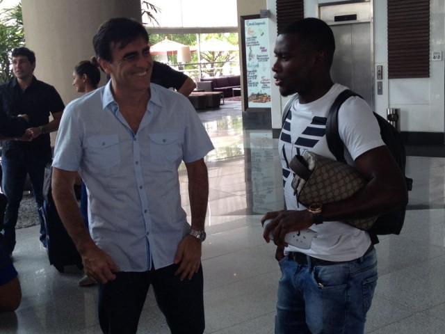 Marcos Caicedo y Gustavo Quinteros