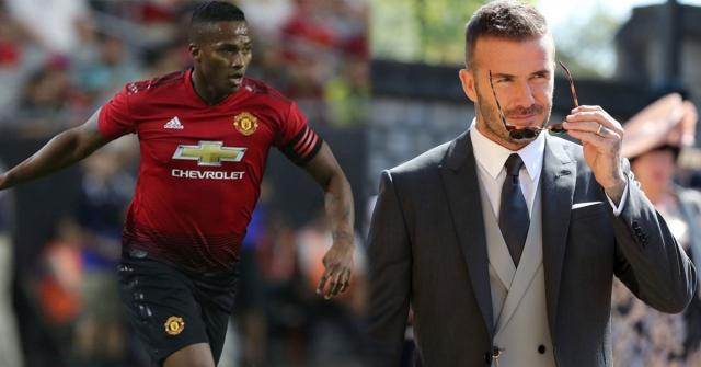 Antonio Valencia y David Beckham