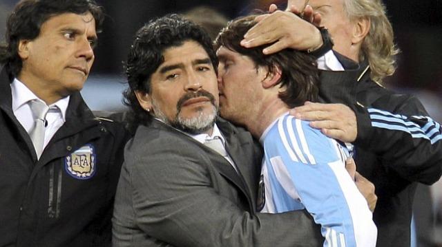 Diego Maradona y Messi