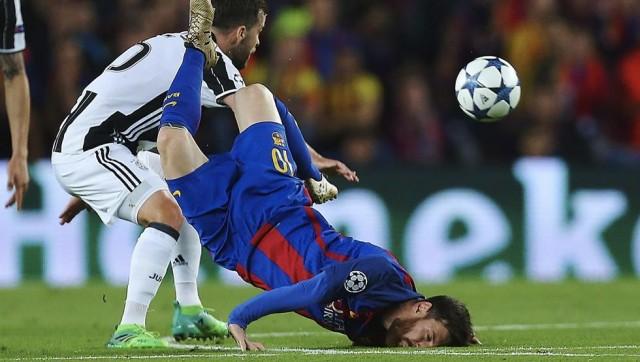 Lionel Messi caída