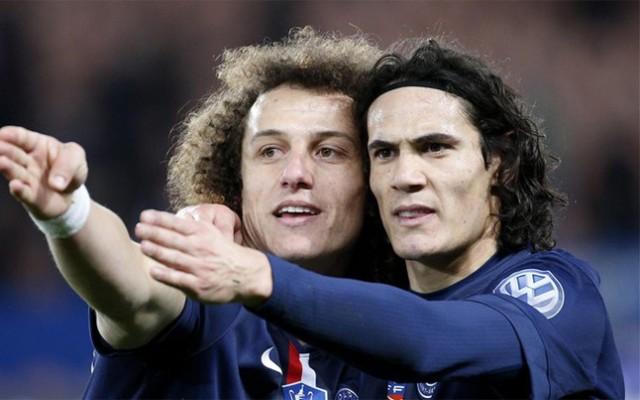 Cavani y David Luiz