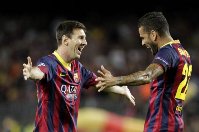 Messi y Dani Alves
