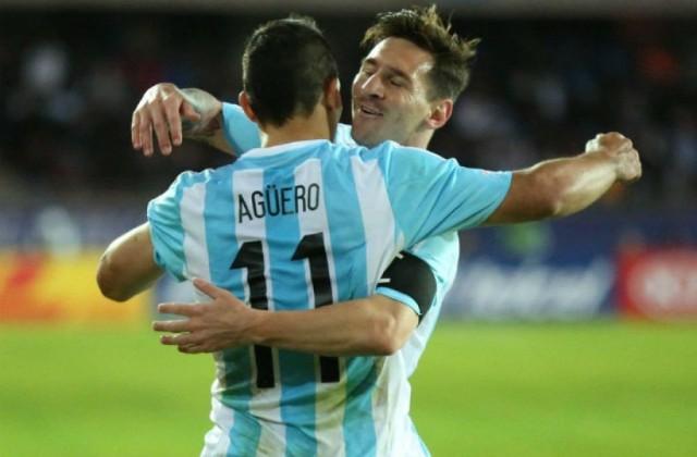 Lionel Messi y Kun Agüero