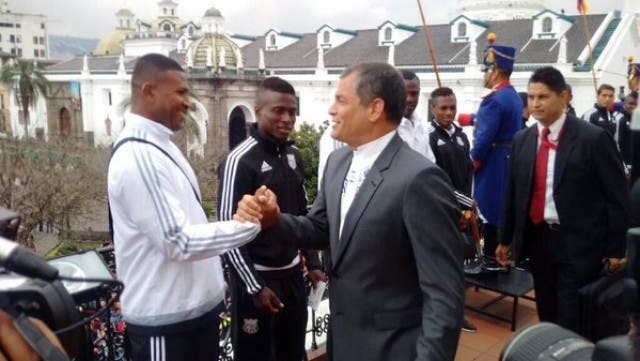 Rafael Correa y Jorge Guagua