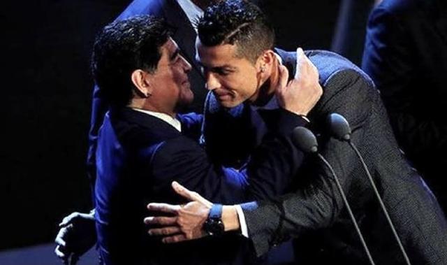 Diego Maradona y Cristiano