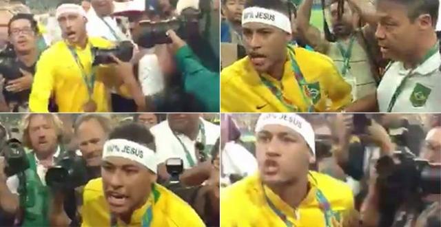 Neymar Junior enojado