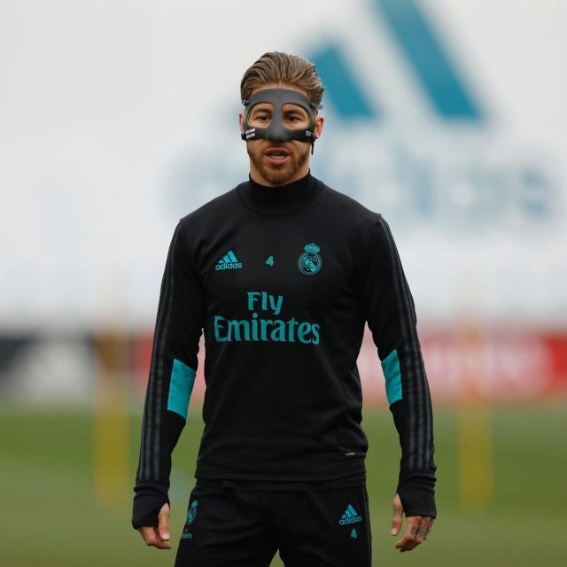 Sergio Ramos máscara