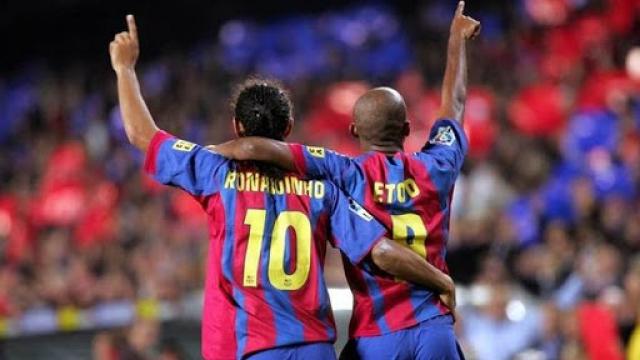 Ronaldinho y Etoo