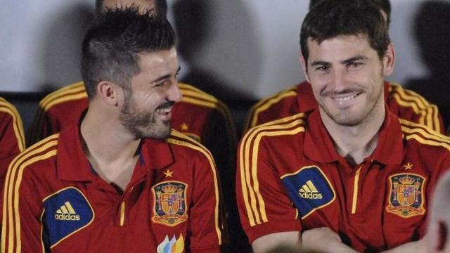 Iker Casillas y David Villa