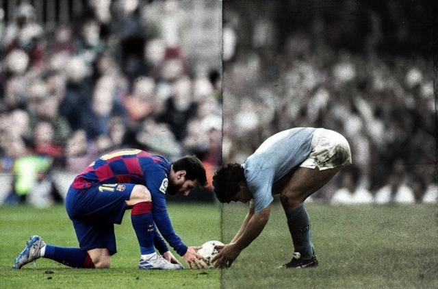 Messi y Maradona 2
