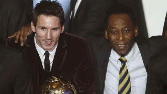 Pele y Messi