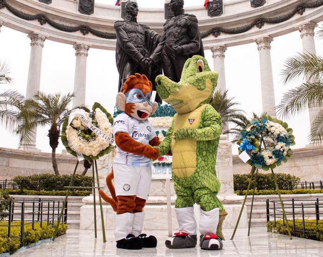 Mascotas Guayaquil City y LDUQ