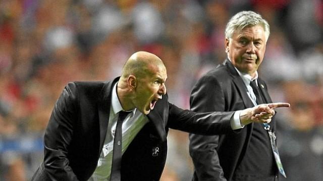 Zinedine Zidane y Ancelotti